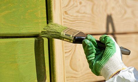buiten groen schilderen
